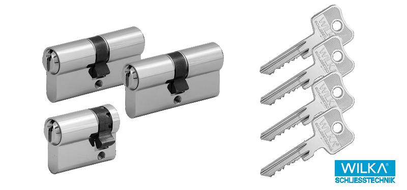 WILKA System 1400 Schließzylinder Set