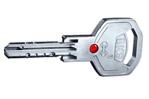 BKS Janus 46 Wendeschlüssel mit roter Glaskugel