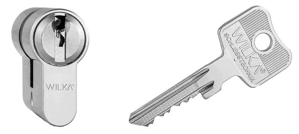 WILKA 1400 Schlüssel + Zylinder