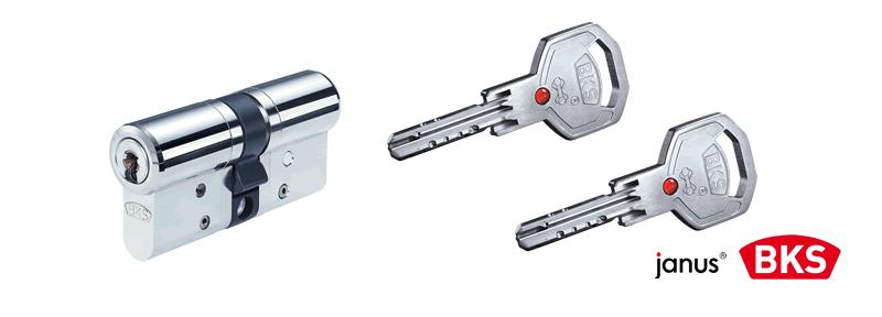 BKS Janus 46 Schließzylinder und Schlüssel