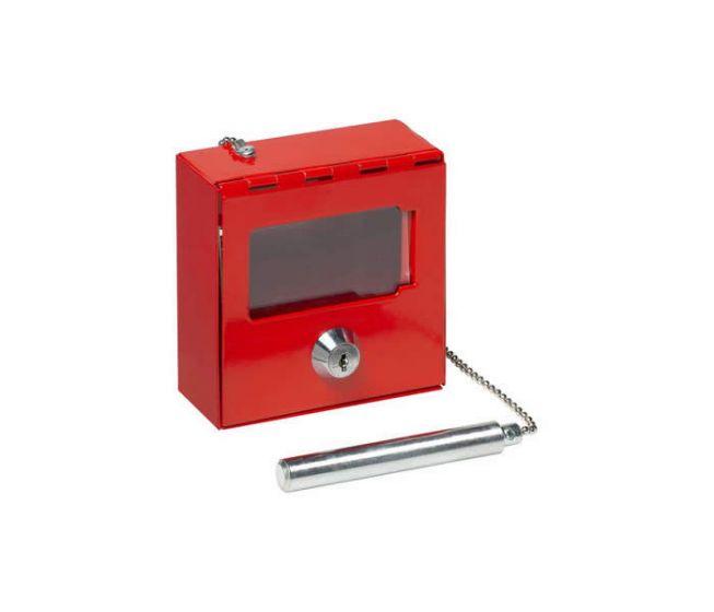 Notschlüsselkasten mit Hammer