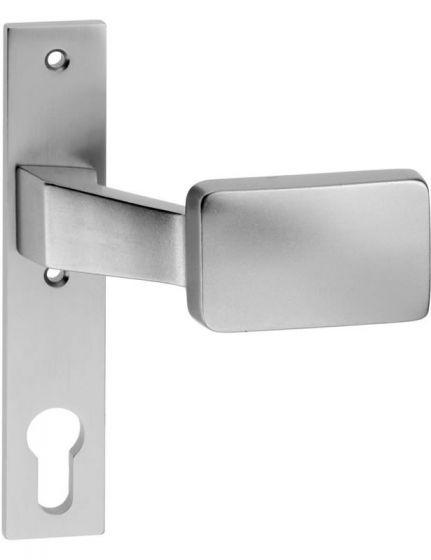 Schlosskastenschild aus Aluminium mit Knopf