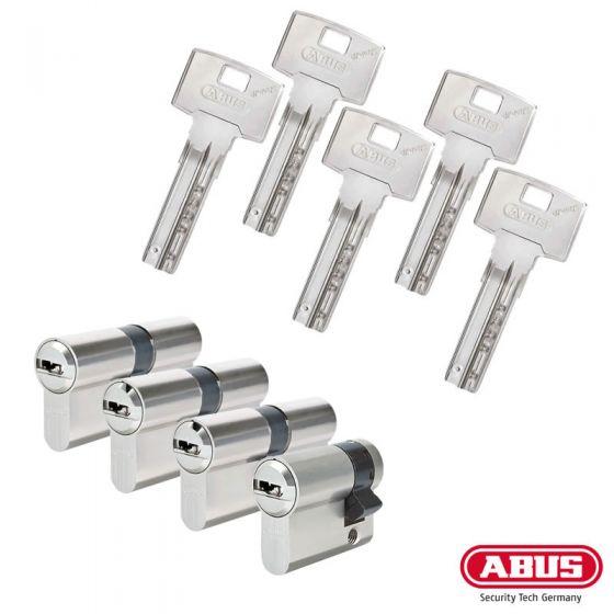 ABUS Bravus 3000 Schließzylinder Set | Bestehend aus 3 Profilzylinder & 1 Halbzylinder