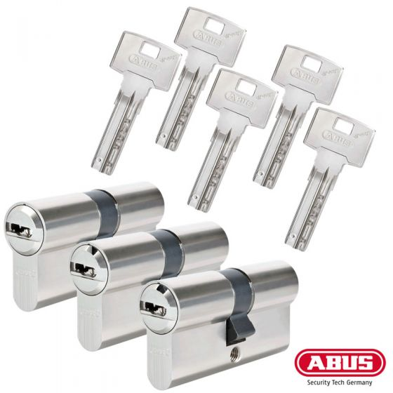 ABUS Bravus 3000 Schließzylinder Set | Bestehend aus 3 Profilzylinder
