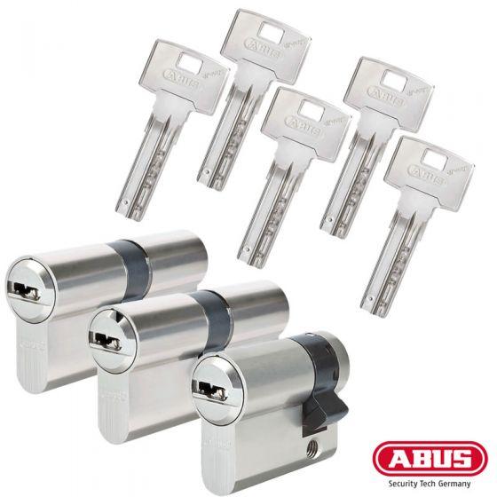 ABUS Bravus 3000 Schließzylinder Set | Bestehend aus 2 Profilzylinder & 1 Halbzylinder