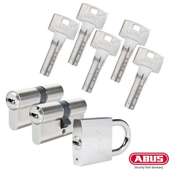 ABUS Bravus 3000 Schließzylinder Set   Bestehend aus 2 Profilzylinder & 1 Hangschloss