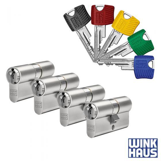 WINKHAUS RPE Schließzylinder 4er Set | 4 Profilzylinder