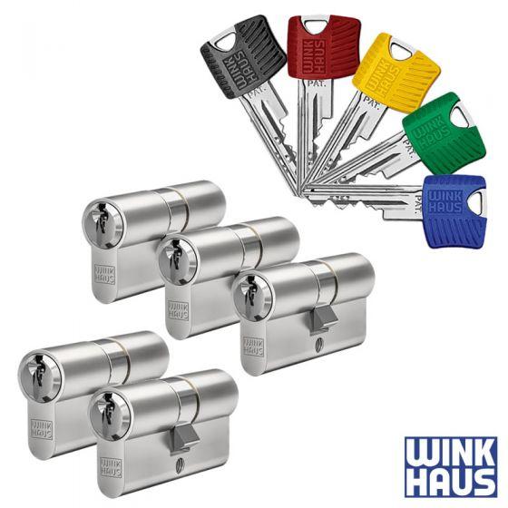 WINKHAUS RPE Schließzylinder 6er Set   5 Profilzylinder