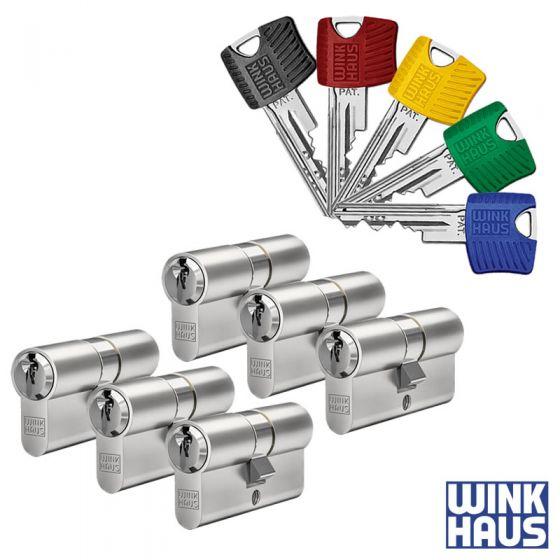 WINKHAUS RPE Schließzylinder 6er Set | 6 Profilzylinder