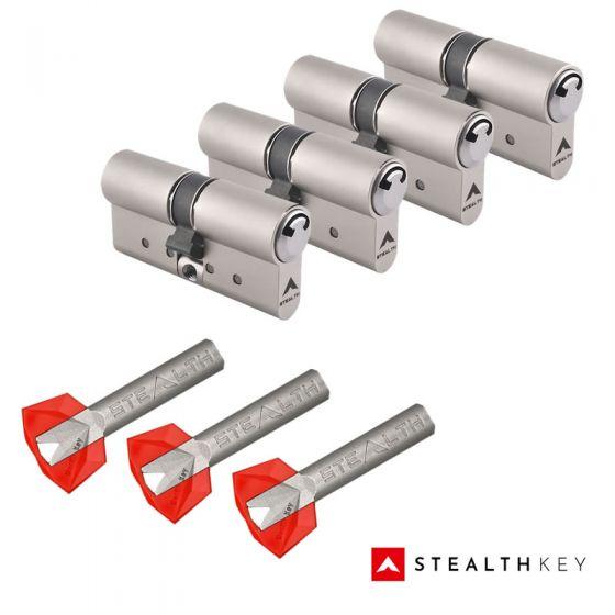 Stealth Key Schließzylinder 4er Set | 4 Profilzylinder