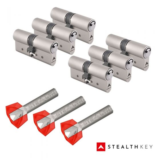 Stealth Key Schließzylinder 6er Set | 6 Profilzylinder