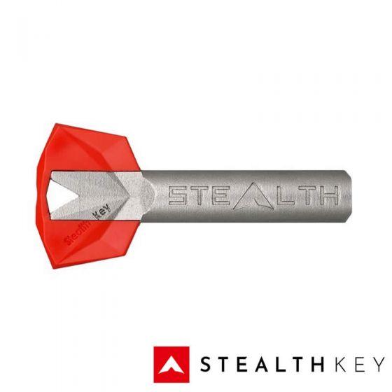 Stealth Key Schlüssel mit roter Farbkappe