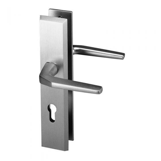 Schutzbeschlag aus Aluminium, beidseitig Drücker