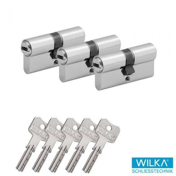 WILKA Wendeschlüssel System 3600 Profilzylinder 2er Set