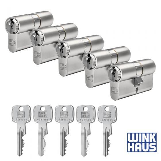 WINKHAUS keyOne X-pert 5er Set Profilzylinder