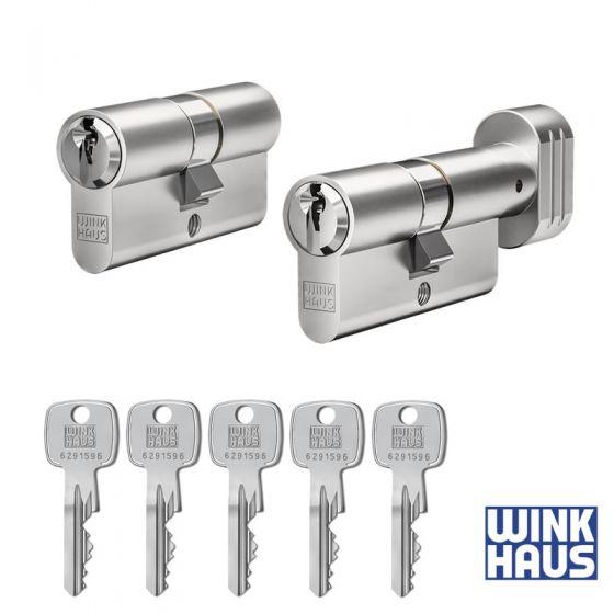 WINKHAUS keyOne X-pert 2er Set | 1 Profilzylinder & 1 Knaufzylinder