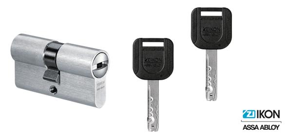 IKON R10 2RWS Schließzylinder und Schlüssel