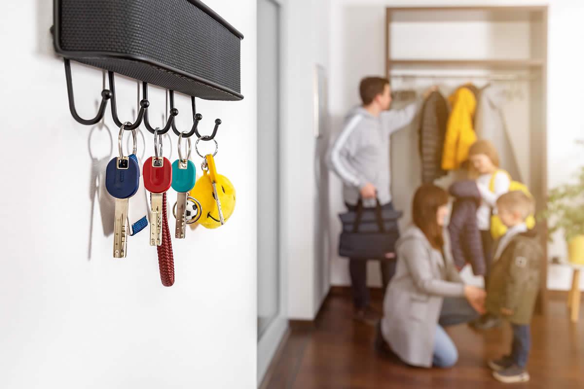Jedes Familienmitglied bekommt seinen Schlüssel in der Lieblingsfarbe